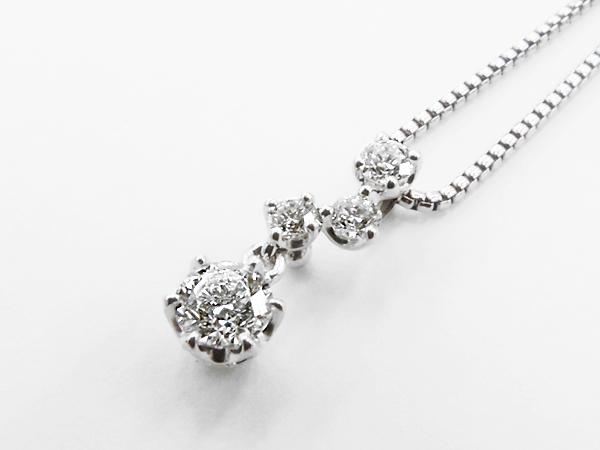 【送料無料】【あす楽対応】 HOSHInoSUNA (星の砂) K18WG (18金 ホワイトゴールド) ダイヤモンドネックレス