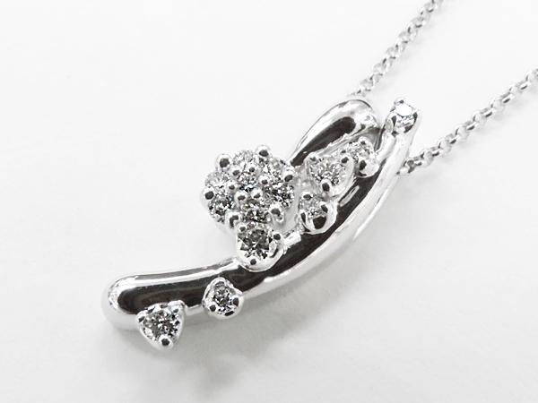 【送料無料】【あす楽対応】 HOSHInoSUNA (星の砂) K18WG (18金 ホワイトゴールド) ダイヤモンドネックレス 3wayタイプ