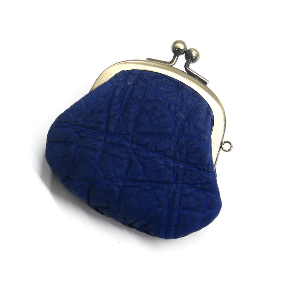 コインケース がま口 レディース メンズ コンパクト mini 小さい 小銭入れ がま口財布 エレファントレザー ゾウ革 象革 本革 レザー 財布 日本製 藍染