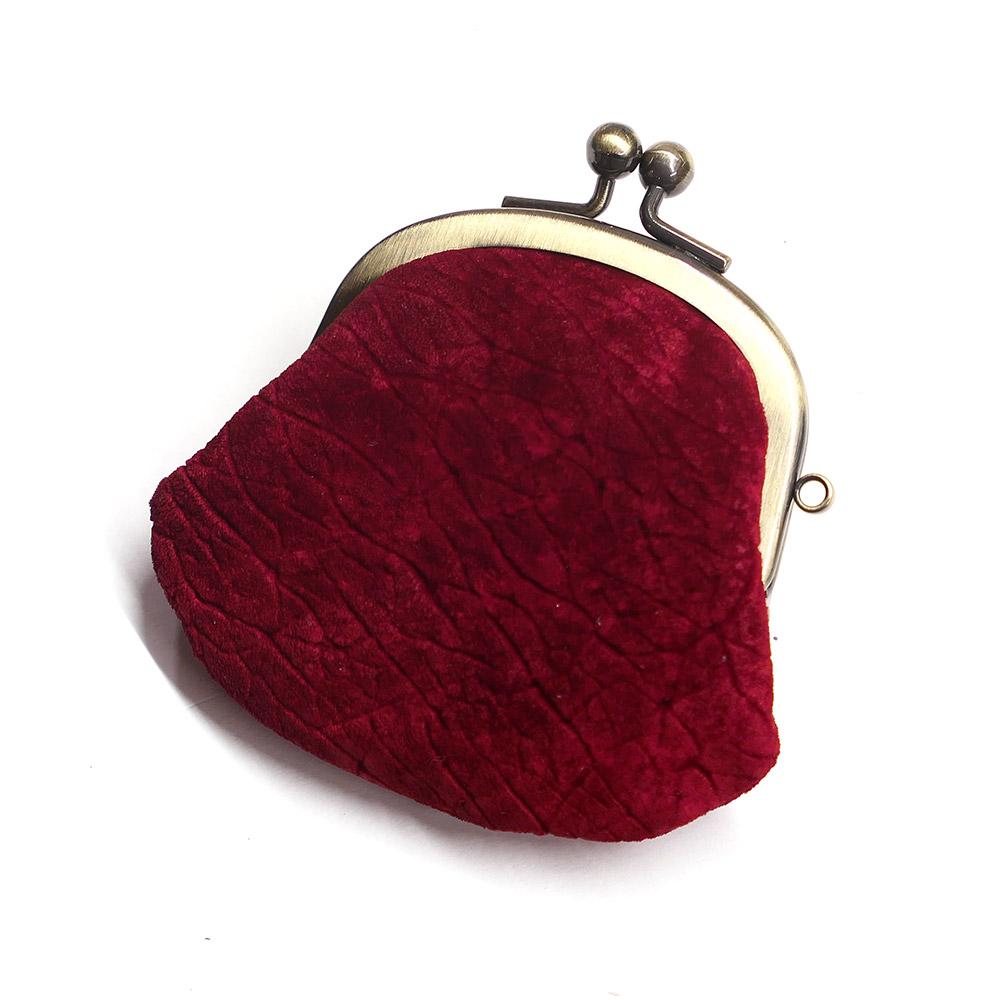 コインケース がま口 レディース メンズ コンパクト ミニがま mini 小さい 小銭入れ がま口財布 カバ革 ヒポポタマスレザー 本革 レザー 財布 日本製 赤 レッド