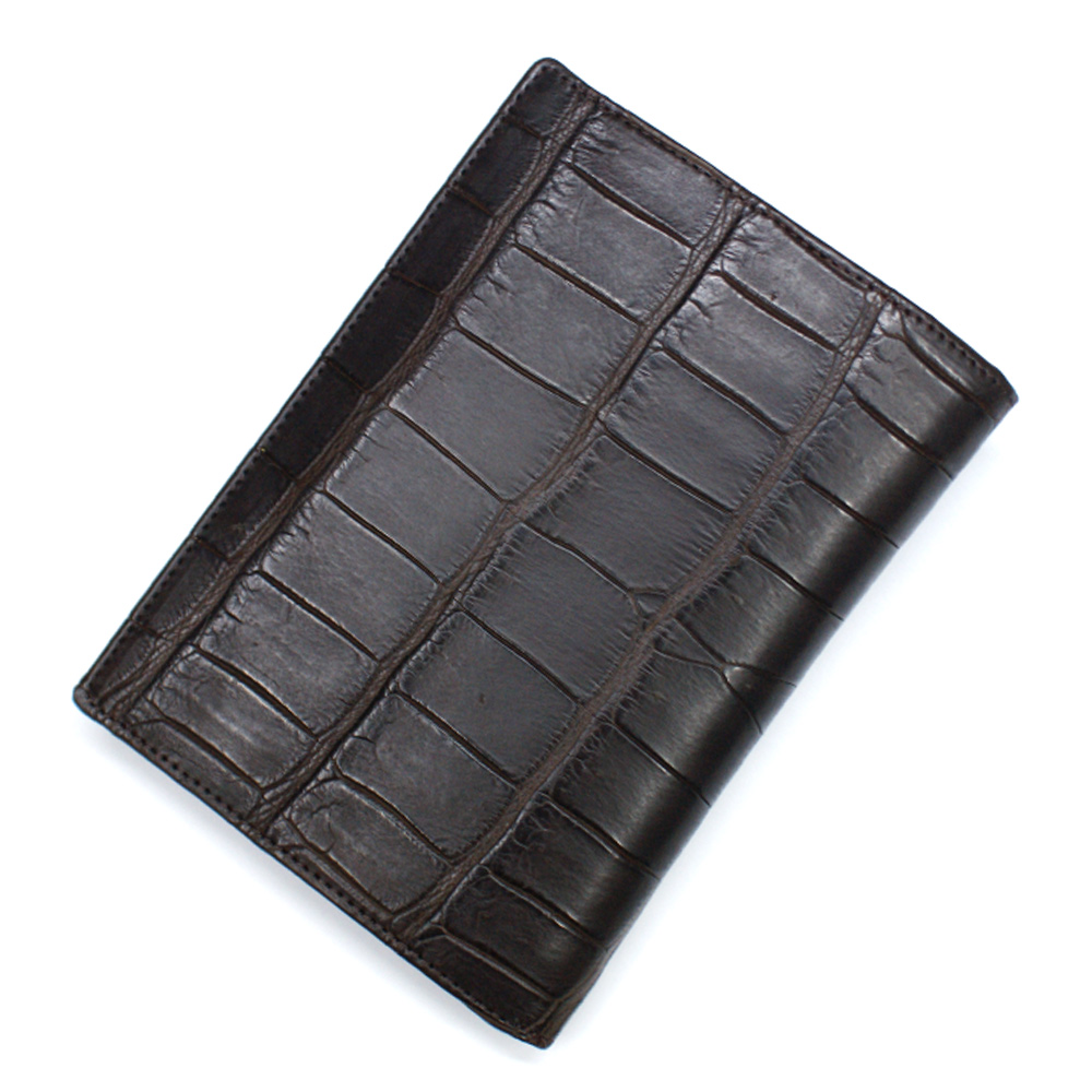 カードケース レディース メンズ クロコダイル ワニ革 レザー 革 薄型 大容量 ポイントカード入れ クレジットカード入れ カードホルダー マット チョコ