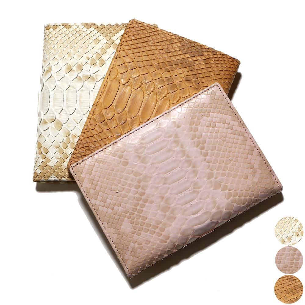 カードケース カード入れ 薄型 大容量 ダイヤモンド パイソン 蛇 ヘビ ハーフブリーチ 全3色