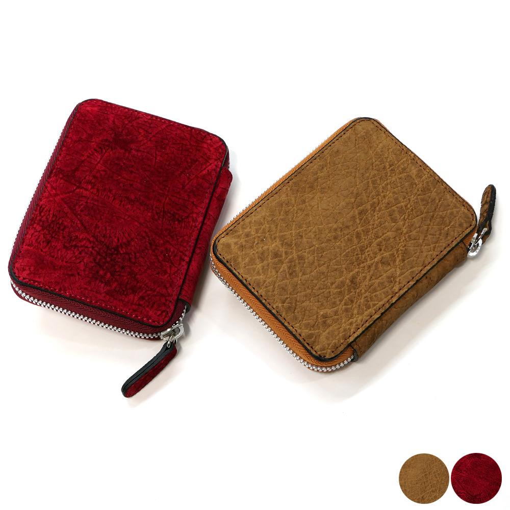 ラウンドファスナー カードケース 本革 ヒポポタマス カバ革 かば革 全2色
