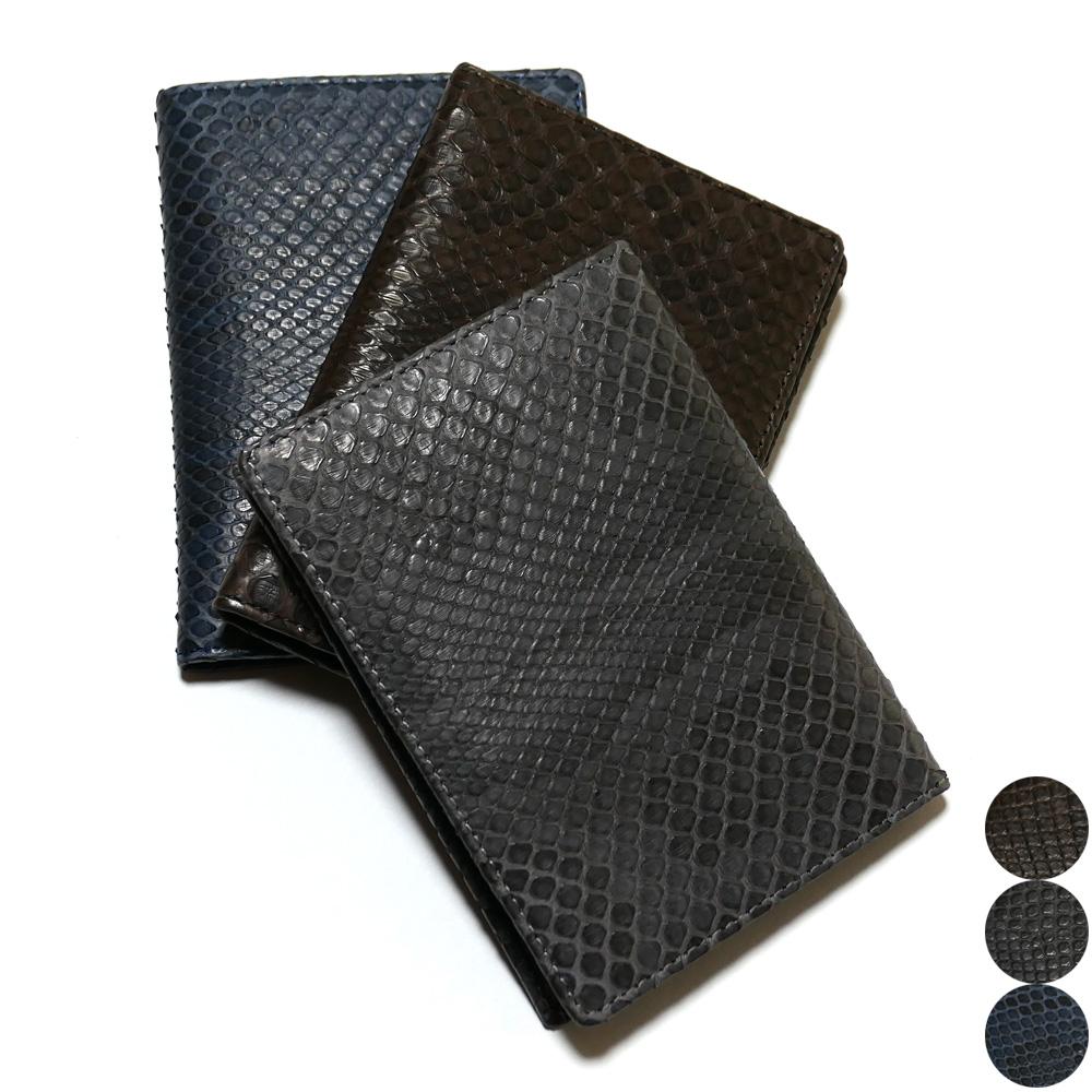 カードケース カード入れ 薄型 大容量 モラレス パイソン 蛇 ヘビ マット 全3色