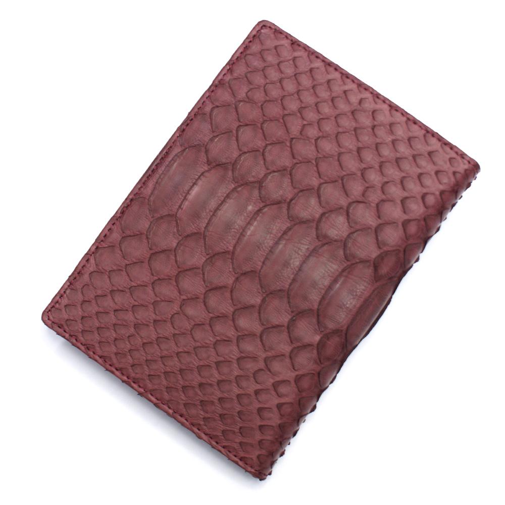 カードケース レディース メンズ パイソン 蛇革 レザー 革 薄型 大容量 ポイントカード入れ クレジットカード入れ カードホルダー カード収納 マット ワイン