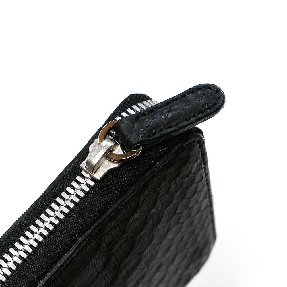 ラウンドファスナー カードケース メンズ レディース 本革 パイソン 蛇 柄 マット 全2色BreCodxW