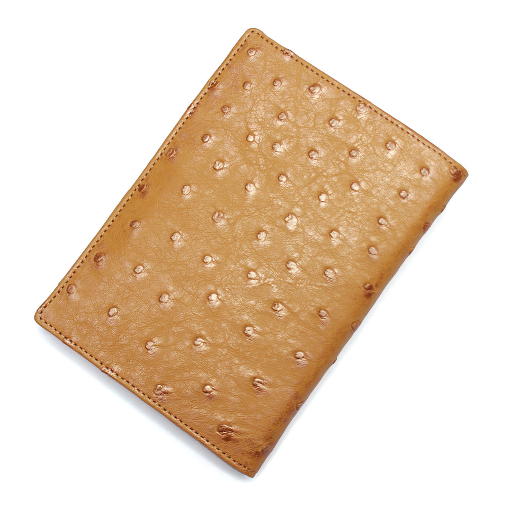 カードケース レディース メンズ オーストリッチ 駝鳥革 レザー 革 薄型 大容量 ポイントカード入れ クレジットカード入れ カードホルダー カード収納 キャメル