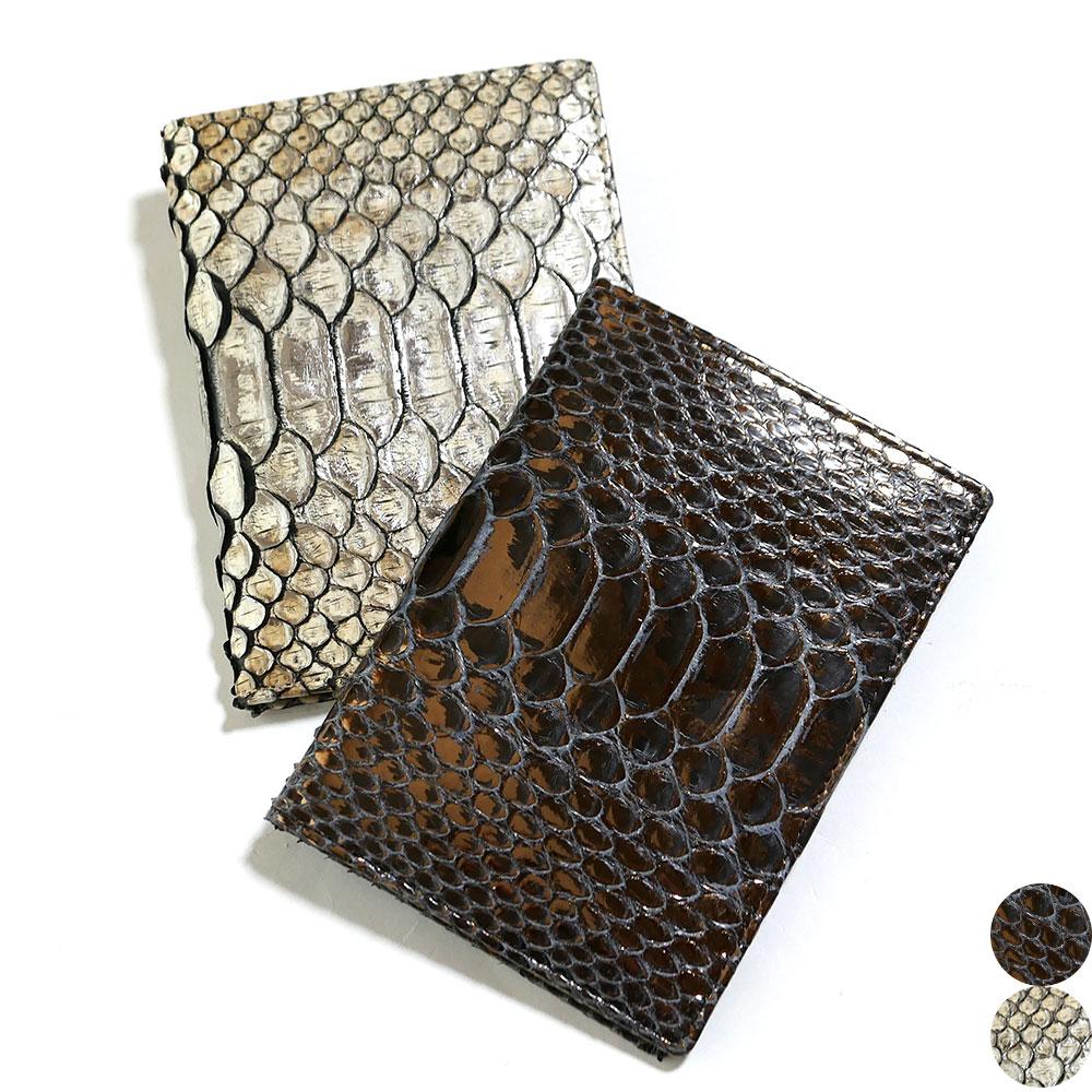 カードケース カード入れ 薄型 大容量 ダイヤモンド パイソン 蛇 ヘビ ラスター 全2色