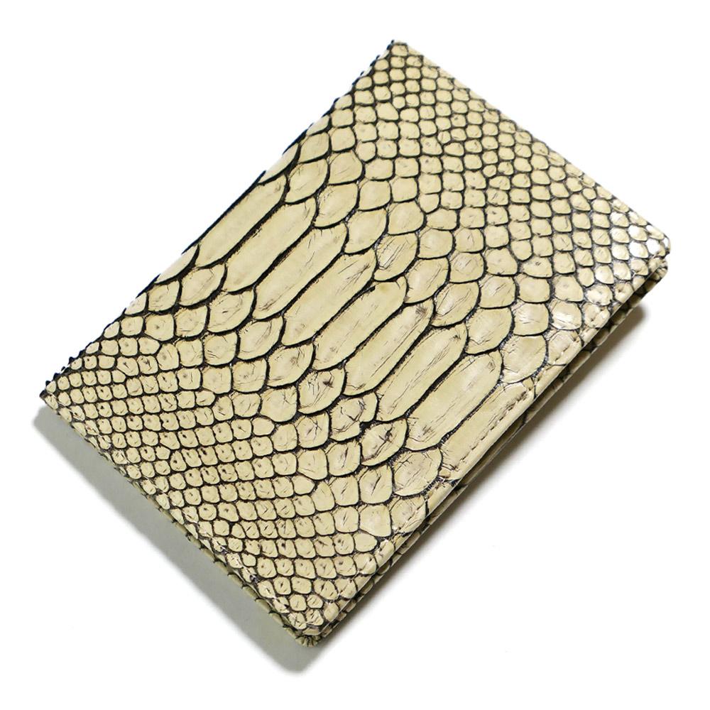 カードケース カード入れ 薄型 大容量 ダイヤモンド パイソン 蛇 ヘビ マダム
