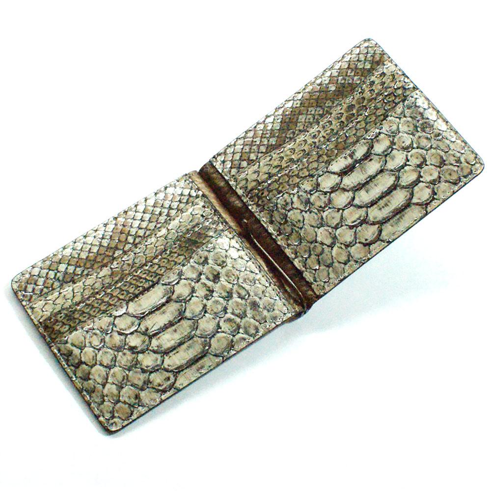 マネークリップ 財布 折り財布 薄型 カード収納 メンズ レディース 蛇革 パイソン革 ヘビ革 無双仕様 P13