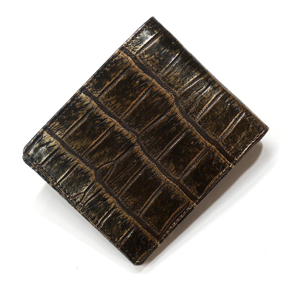 クロコダイル革 財布 鰐 クロコ 鰐革 財布 二つ折り財布 折り財布 無双仕様 小銭入れなし カード収納 レディース財布 メンズ財布 ラグジュアリー
