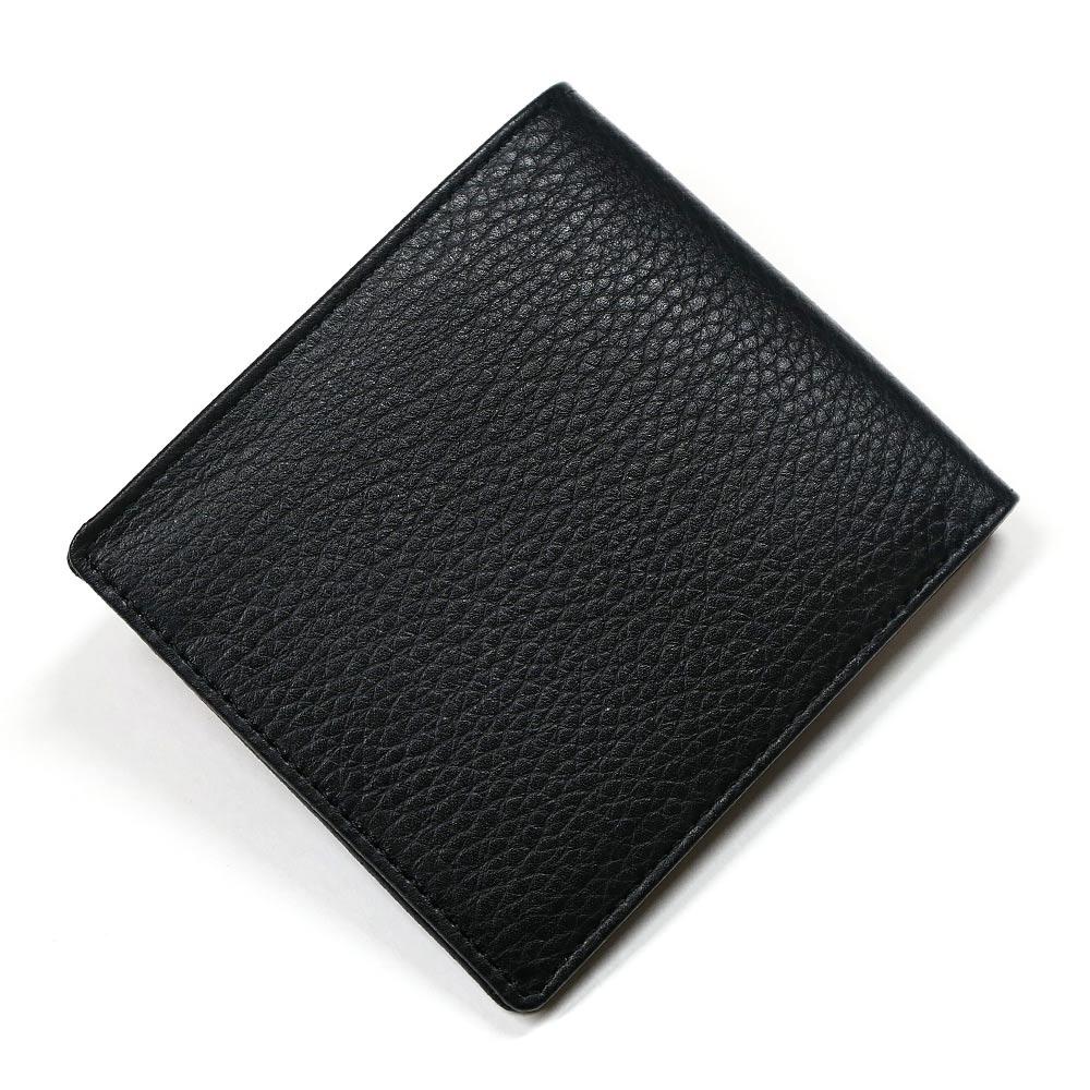 財布 メンズ レディース 本革 二つ折り 折り財布 純札 小銭入れなし カード収納 サイフ さいふ 札入れ 牛革 レザー 無双仕様 日本製 ブラック