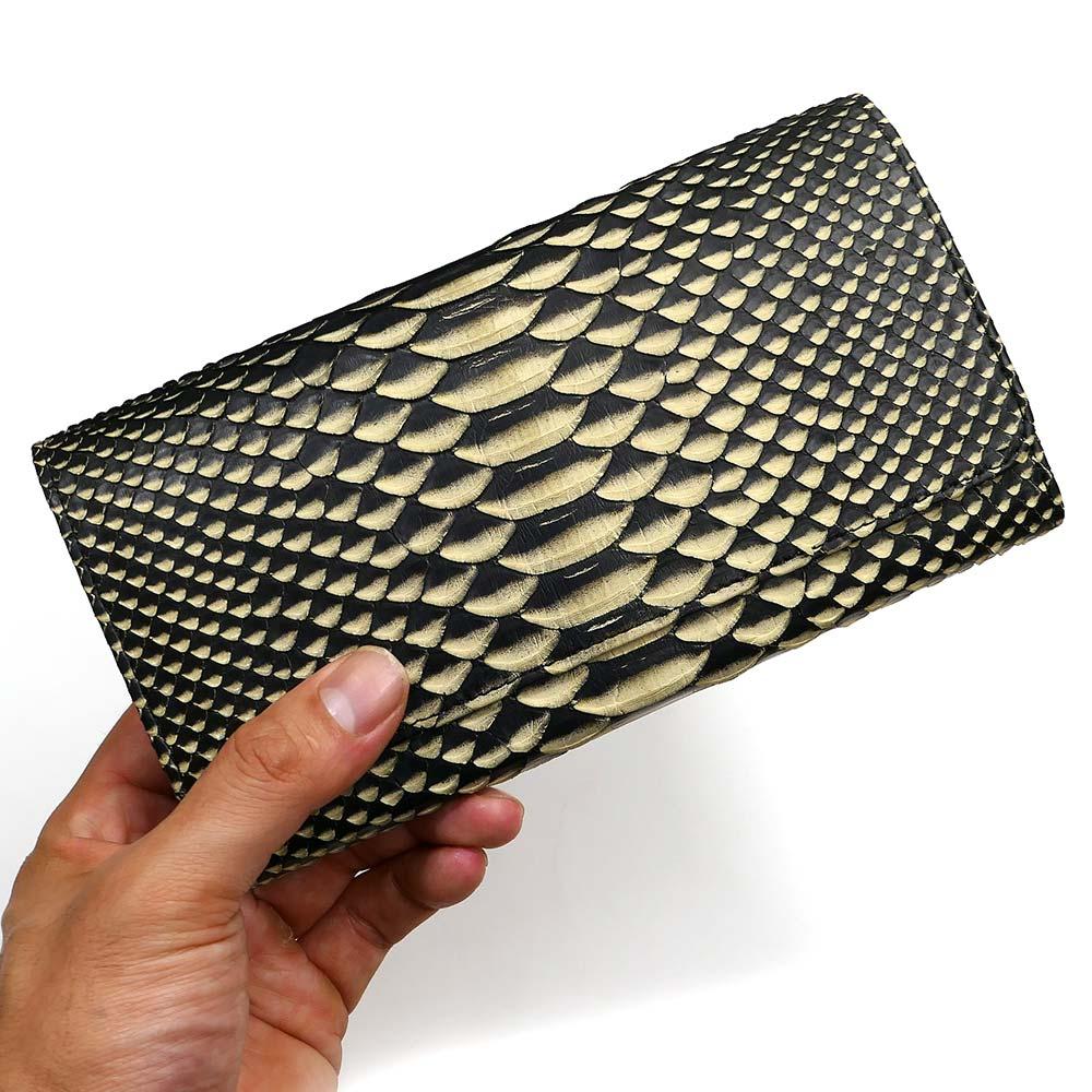 0c2b172e16a5 長財布 財布 カードケース メンズ レディース ロング ウォレット 蛇革 ...