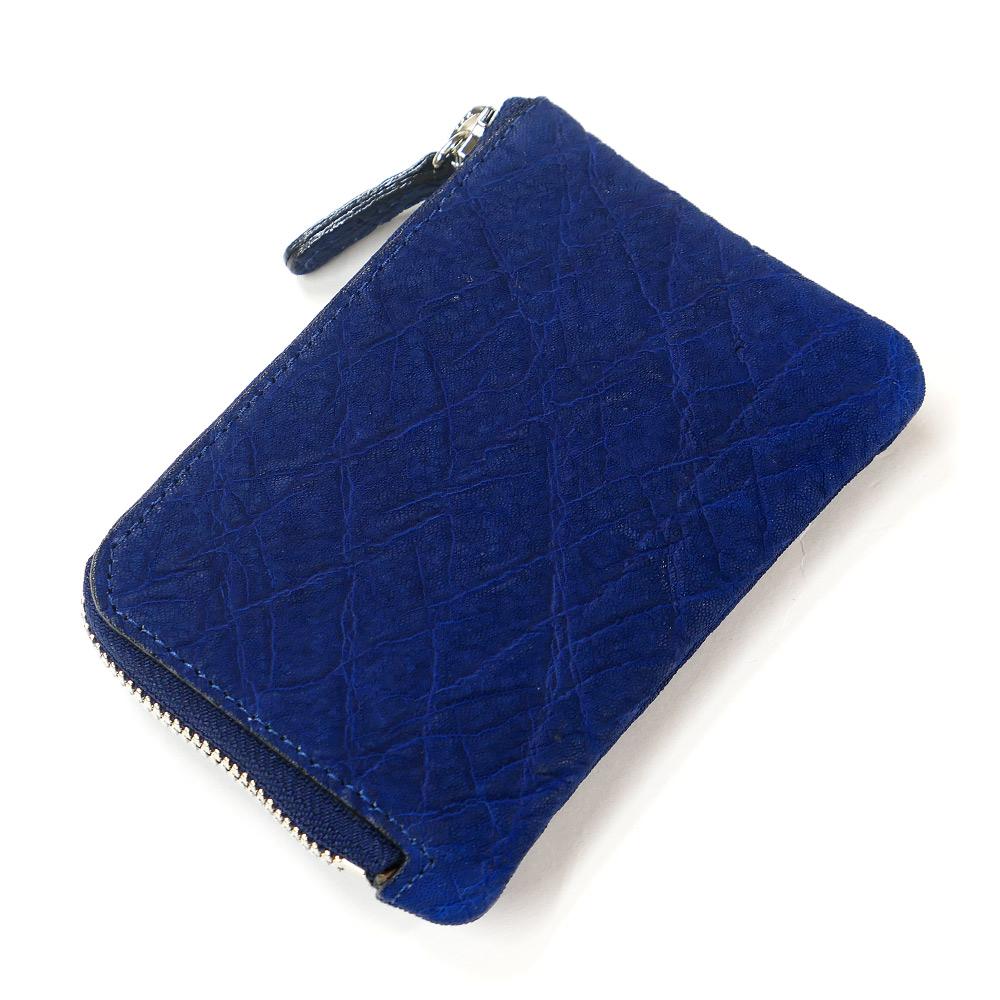 財布 L字 ラウンドファスナー財布 札入れ レディース財布 メンズ財布 薄型 コンパクト 象 エレファント レザー 小銭入れ 日本製 藍染