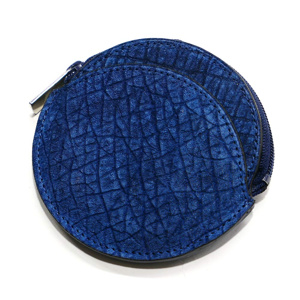 コインケース 小銭入れ メンズ レディース 丸型 ファスナー小銭入れ 本革 革 ヒポポタマスレザー かば 薄型 コンパクト ギフト 日本製 藍染