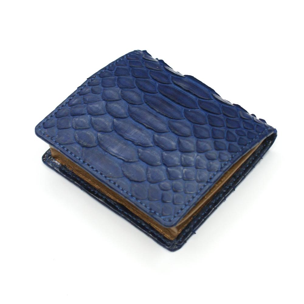 コインケース メンズ レディース 小銭入れ 蛇革 パイソン革 ヘビ革 ボックス型小銭入れ 薄型 コンパクト BOX型 ギフト 日本製 藍染