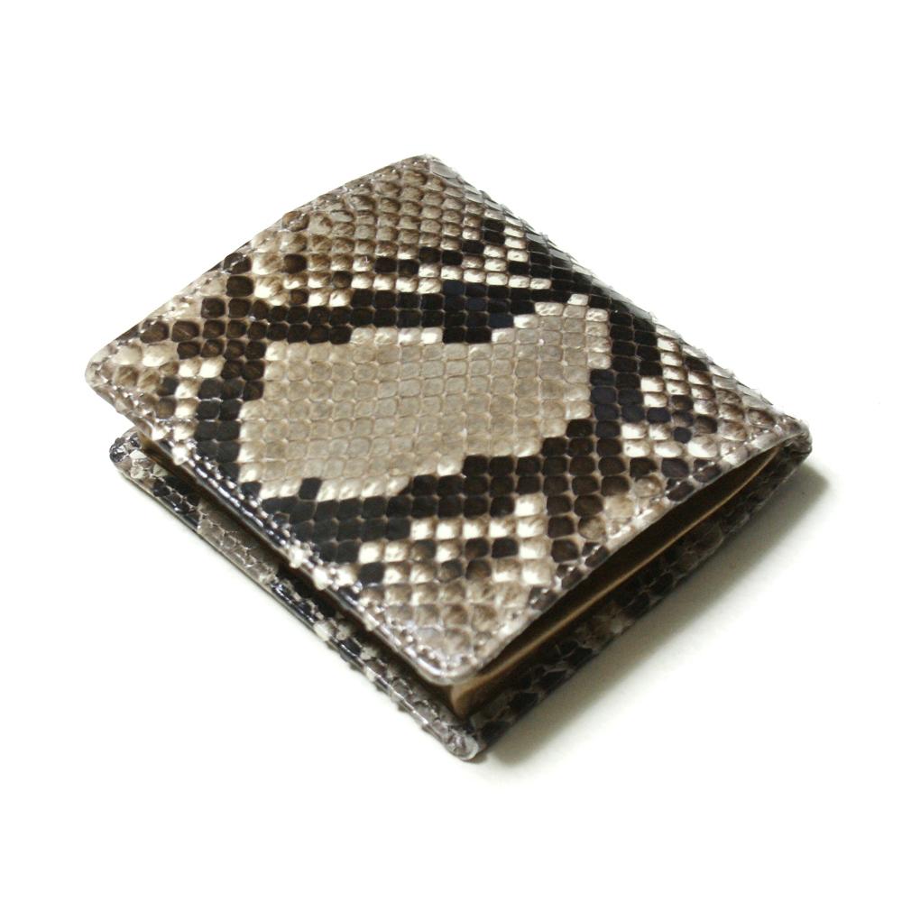 コインケース メンズ レディース 小銭入れ 蛇革 パイソン革 ヘビ革 ボックス型小銭入れ 薄型 コンパクト BOX型小銭入れ ギフト 日本製 柄 ナチュラル