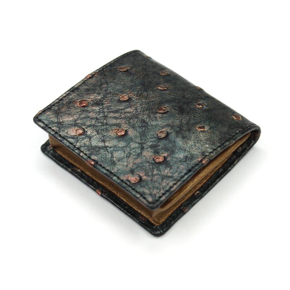 コインケース メンズ レディース 小銭入れ オーストリッチ 駝鳥革 ボックス型小銭入れ 薄型 コンパクト BOX型 ギフト 日本製 ラグジュアリーレトロ