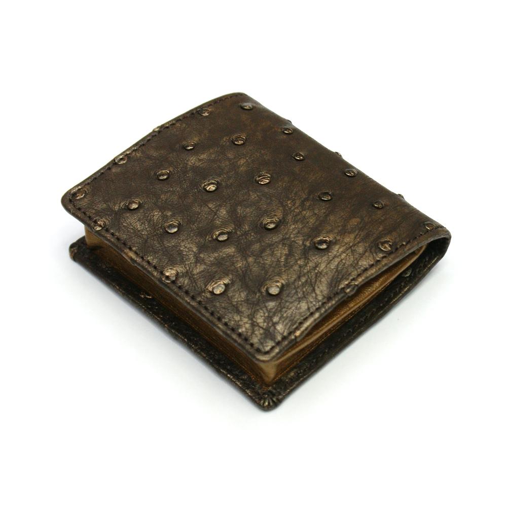コインケース メンズ レディース 小銭入れ オーストリッチ 駝鳥革 ボックス型小銭入れ 薄型 コンパクト BOX型 ギフト 日本製 ラグジュアリー