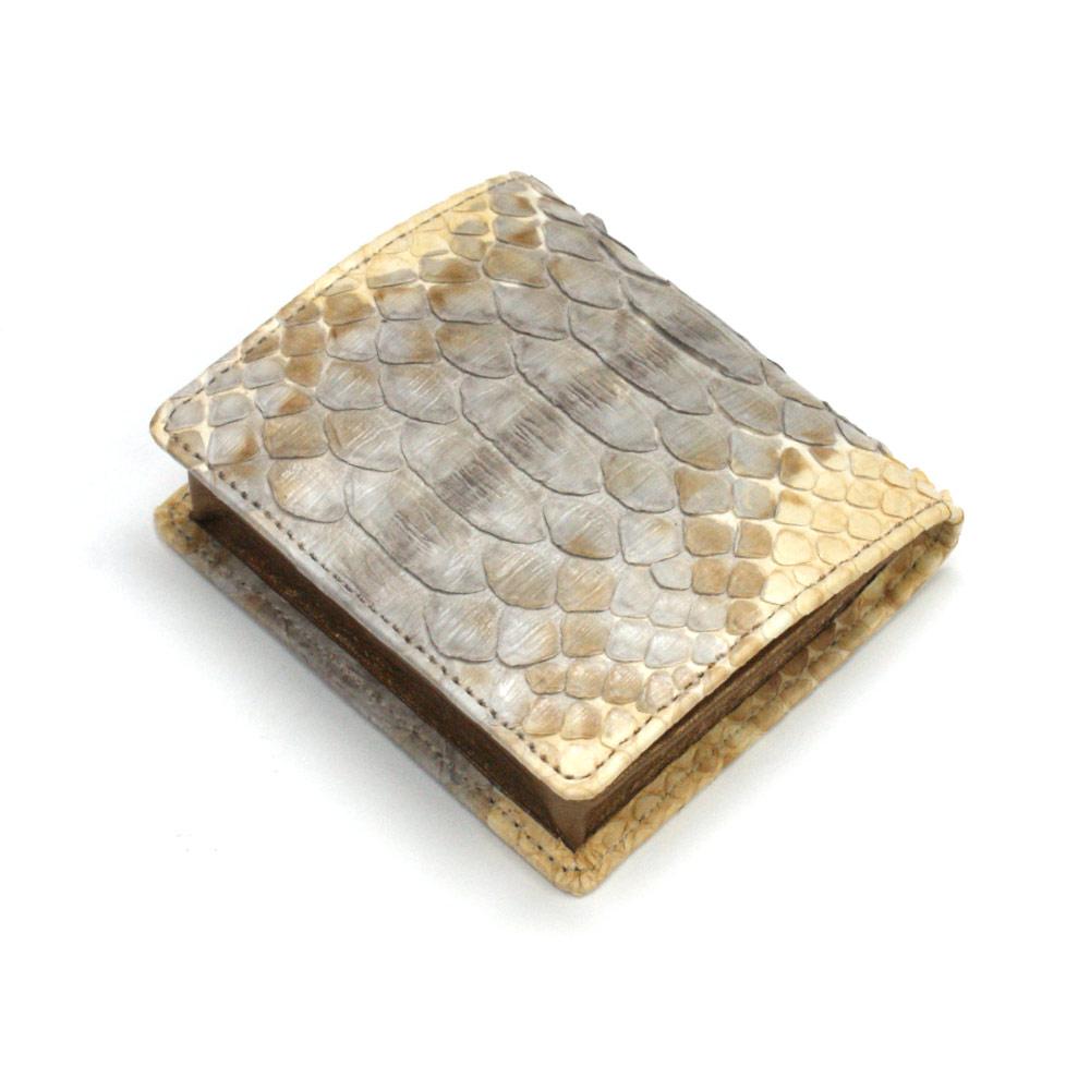 コインケース メンズ レディース 小銭入れ 蛇革 パイソン革 ヘビ革 ボックス型小銭入れ 薄型 コンパクト BOX型小銭入れ ギフト 日本製 手染め P11
