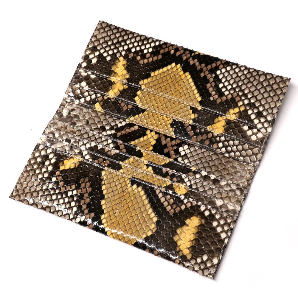2826b972916d 長財布 レディース ハーフブリーチ 日本製 メンズ 財布 財布 長札 イエロー 蛇革 ウォレット ロング ...