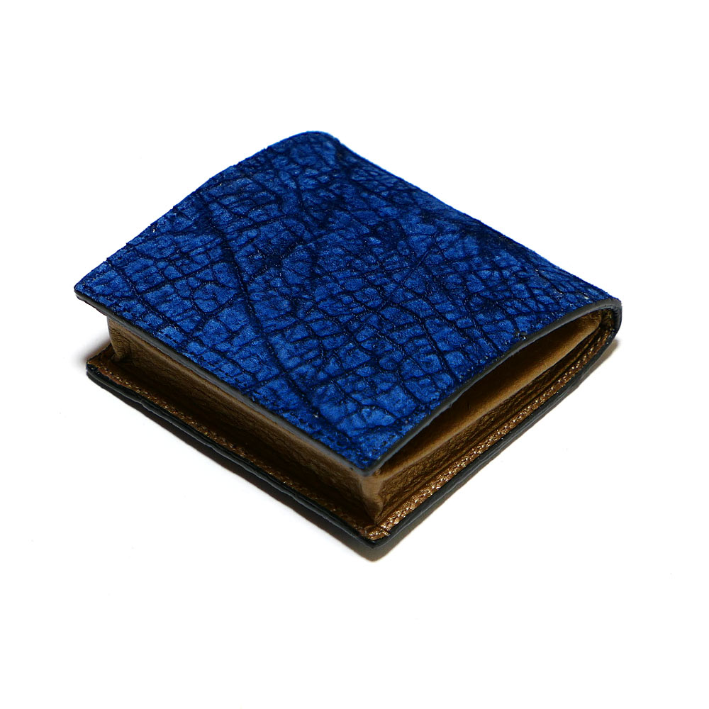 コインケース 小銭入れ ボックス型小銭入れ メンズ レディース 本革 ヒポポタマス カバ革 藍染