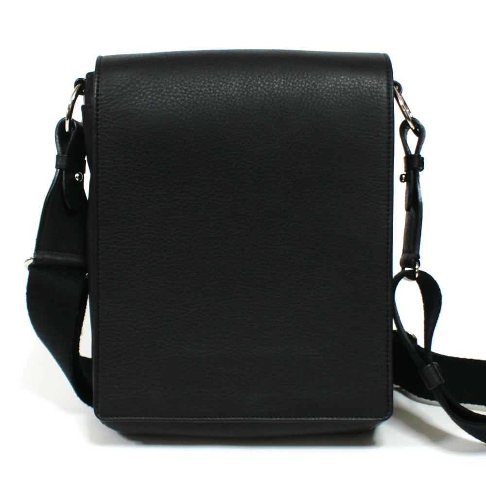 ショルダーバッグ メンズ バッグ 本革 レザー 牛革 B5 革 斜めがけバッグ 日本製 ブラック