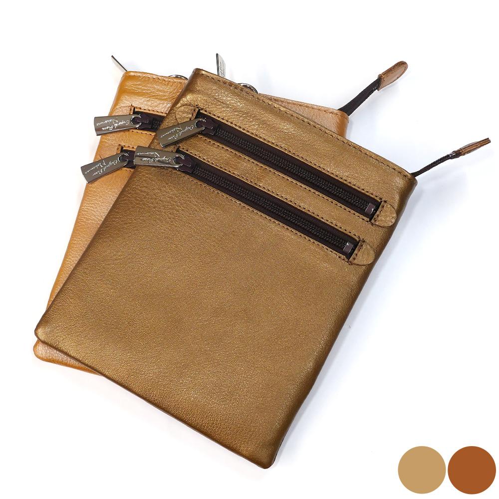 ショルダーバック 牛革 バッグ レザー コンパクト ベルト付き 2 各色 ブラウン(パール)/ゴールド