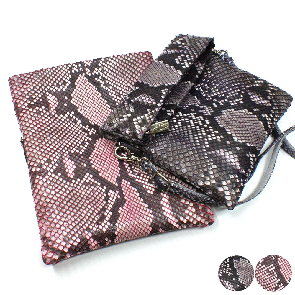 ダイヤモンド パイソン 蛇 ポシェット レディース パイソン革 本革 シンホニー 全2色