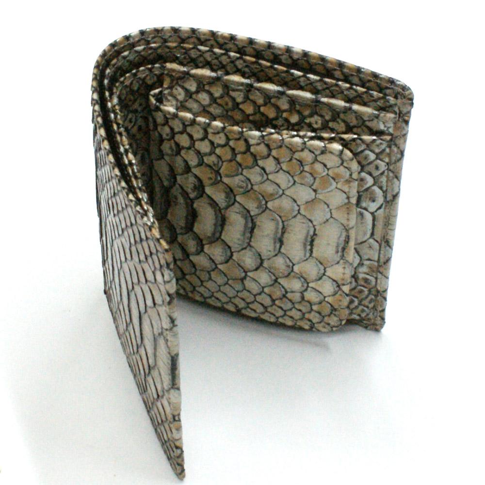 財布 ボックス型小銭入れ レディース メンズ 二つ折り 本革 革 無双 パイソン ヘビ 蛇 へび カード収納 日本製 P13