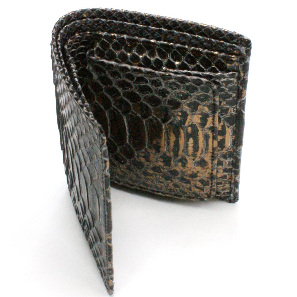 財布 ボックス型小銭入れ レディース メンズ 二つ折り 本革 革 無双 パイソン ヘビ 蛇 へび カード収納 日本製 P14