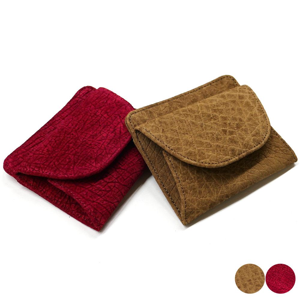 財布 札入れ ボックス型 小銭入れ付 本革 カバ革 ヒポポタマスレザー 全2色