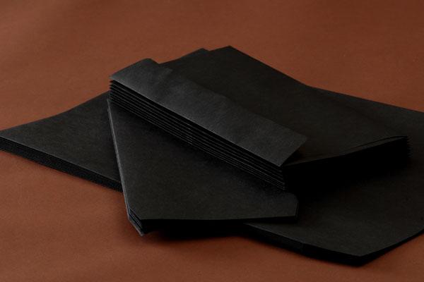 封筒 クラフトカラー封筒 角2 ブラック 85g ヨコ貼 枠なし 500枚 kd0298