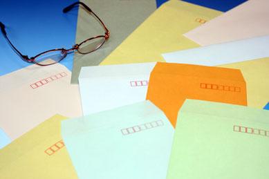 封筒 長3 エクセレントカラー 100g 【 スミ貼 】 3,000枚 紙が厚いタイプです