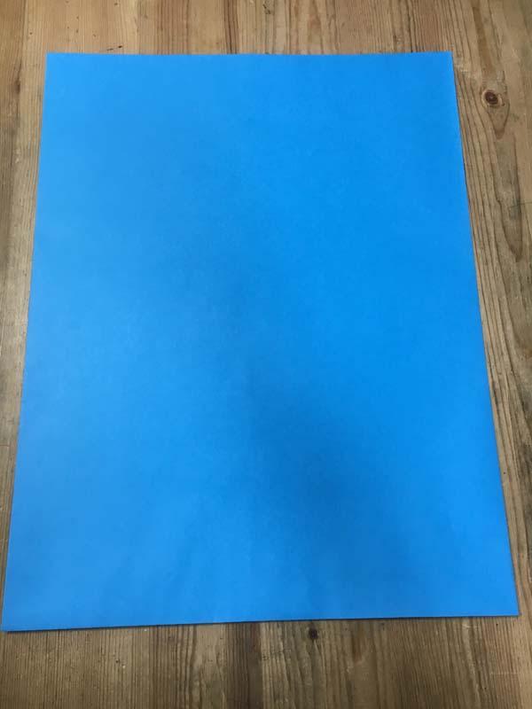ハート クラフトカラー封筒 大型袋 ブルー   120g/m2 2切判 1000枚 jt0080