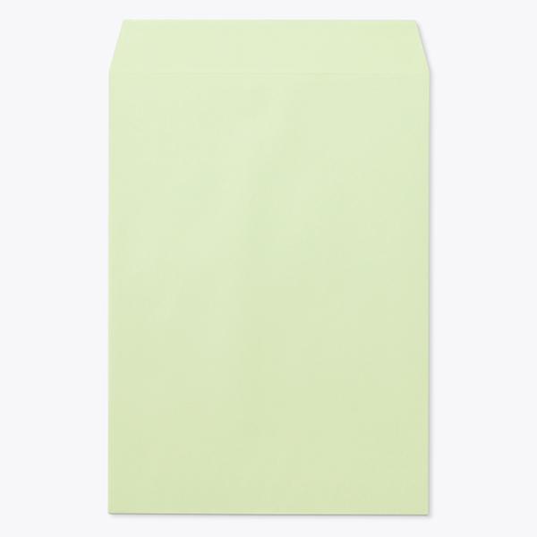 封筒 クラフトカラー封筒 角2 再生ウグイス 85g ヨコ貼 枠なし 1000枚 ku0233