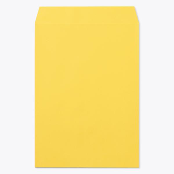 封筒 クラフトカラー封筒 角0 イエロー 100g センター貼 枠なし 1000枚 kc0058