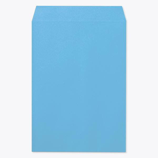 封筒 クラフトカラー封筒 角1 ブルー 100g センター貼 枠なし 1000枚 kc0160