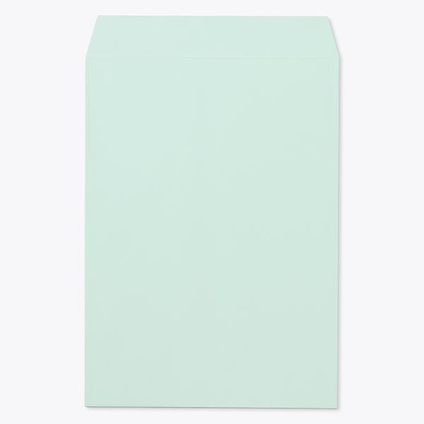 封筒 パステルカラー封筒 角2 パステル グリーン 100g センター貼 枠なし 1000枚 kp0233