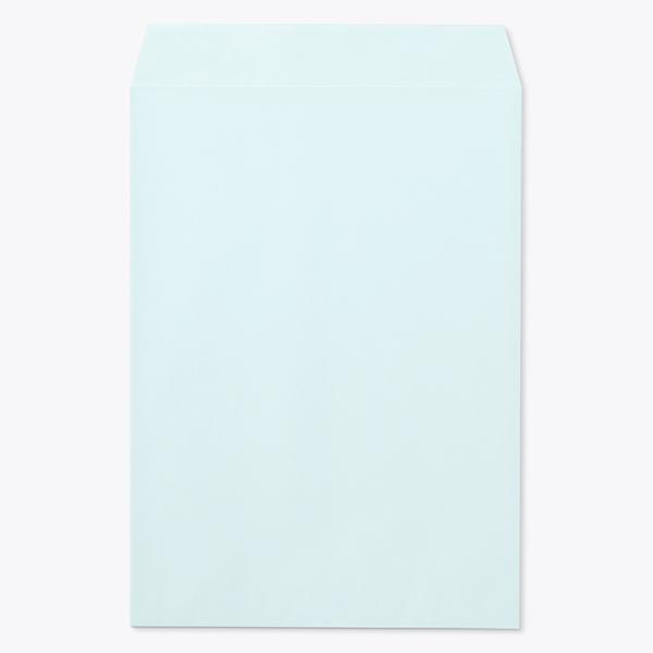 封筒 パステルカラー封筒 角2 テープスチック パステル ブルー 100g ヨコ貼 枠なし 500枚 kr4235