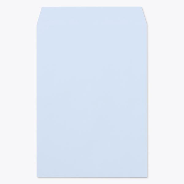 封筒 パステルカラー封筒 角2 森林認証 パステル アクア 100g ヨコ貼 枠なし 1000枚 kr0260