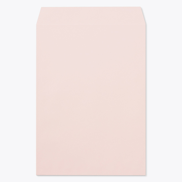 封筒 パステルカラー封筒 角2 透けないコーティング パステル ピンク 100g ヨコ貼 枠なし 1000枚 kr0272