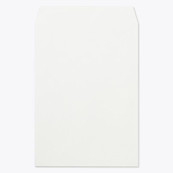 封筒 パステルカラー封筒 角2 透けないコーティング パステル ホワイト 100g ヨコ貼 枠なし 1000枚 kr0290