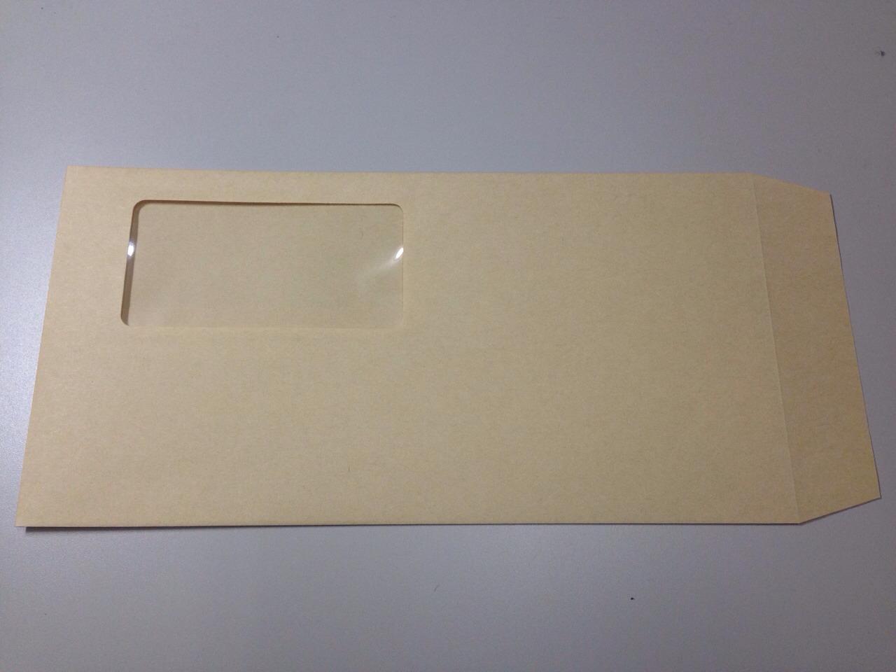 封筒 長3 窓 テープ付 クラフト 1000枚 70g クラフト封筒 窓付き封筒 口糊付き のり付 スラット ワンタッチ 糊付 両面テープ エルコン テープスチック