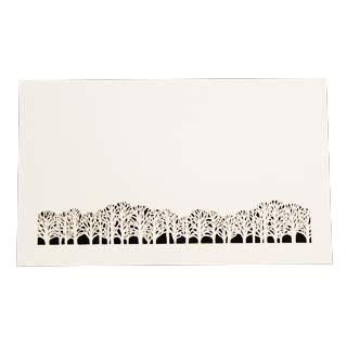 4号 切り絵名刺 50枚入 名刺 注目ブランド 4号 50枚 切リ絵 切り絵 送料込 A8 印刷なし 林 紙の販売です 名入れ