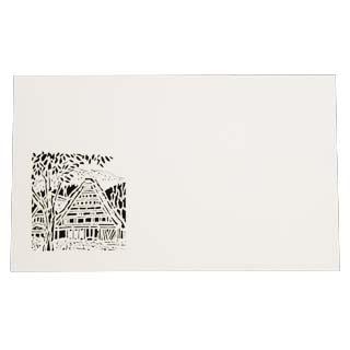 4号 切り絵名刺 50枚入 名刺 通販 激安◆ NEW 4号 50枚 切リ絵 紙の販売です 合掌作り 名入れ M6 印刷なし 切り絵