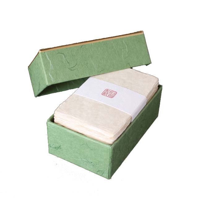 名刺 石州和紙 耳付名刺 100枚 / 箱 【 名入れ 印刷なし 紙の販売です 】 【 4号 高級和紙 】