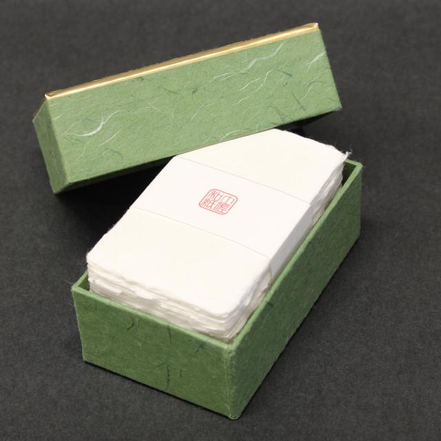 名刺 土佐和紙 耳付名刺 100枚 / 箱 【 名入れ 印刷なし 紙の販売です 】 【 4号 高級和紙 】
