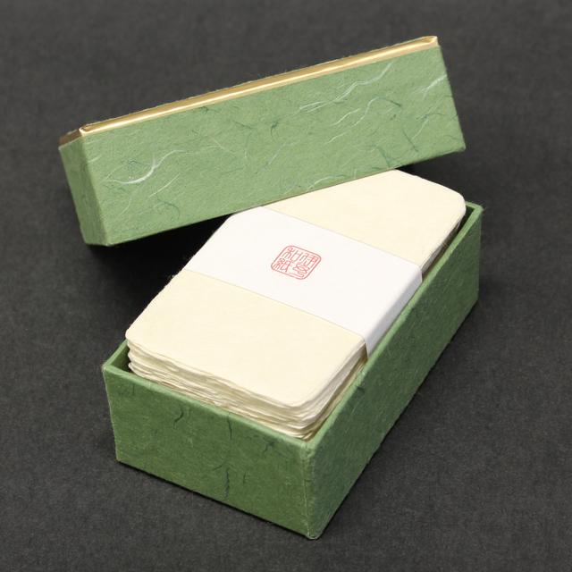名刺 伊予和紙 耳付名刺 100枚 / 箱 【 名入れ 印刷なし 紙の販売です 】 【 4号 高級和紙 】