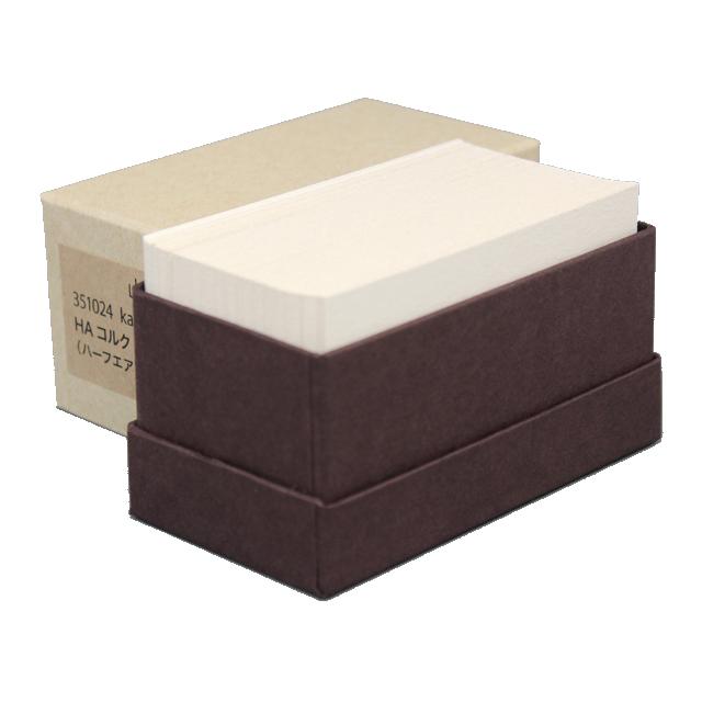 4 号 kappan メーカー直売 名刺 4号 HAコルク 活版印刷用 紙の販売です 100 名入れ印刷なし 枚 箱 大決算セール